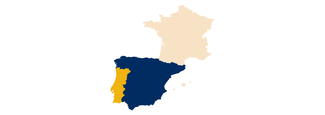 Map of Spain and Portugal showing Argonet distrubtors
