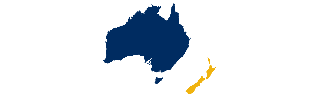 Map of Australia and New Zeland