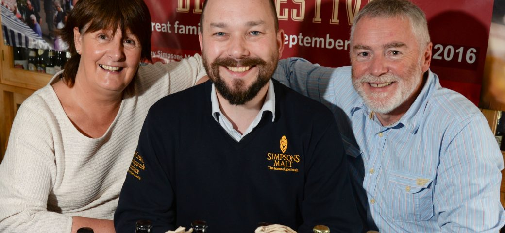 Richard Simpson with two members of the Berwick Food & Beer Festival